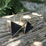 Boucles doreilles créoles triangles noires