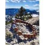 Bracelet bouddhiste perles bois et éléphant gris