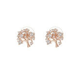 Boucles d'oreilles arbre de vie clou or rose
