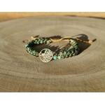 bracelet arbre de vie jaspe tressé