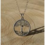 collier arbre de vie argent femme silhouette