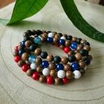 Bracelets perles bois couleurs