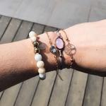 Bracelets accumulables perles strass arbre de vie