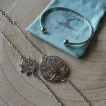 Bracelet argent style marin