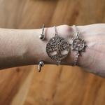 Bracelet jonc arbre de vie ensemble