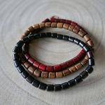 Ensemble de bracelets en bois pour homme