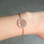 Bracelet chaine arbre de vie or rose