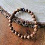 Bracelet mauvais oeil perles en bois