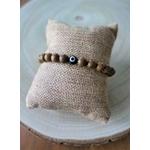Bracelet porte bonheur perles de bois