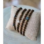Ensemble de bracelets tibétains en bois