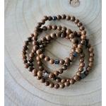 Bracelets perles de bois mala