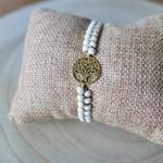 Bracelet pierres naturelles femme arbre de vie