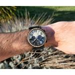 Montre en bois aviateur aviator homme chronographe arbrobijoux