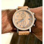 Montre en bois homme meije porte chronographe arbrobijoux