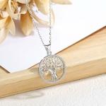 Collier symbole couple arbre de vie argent