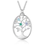 Collier arbre de vie pierres de naissance