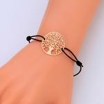 Bracelet symbole arbre de vie cordon de couleur