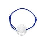 Bracelet arbre de vie cordon bleu et argent longueur réglable