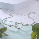 bracelet prénom coeur infini pierre de naissance