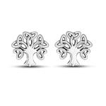 boucles d'oreilles arbre de vie argent clous celtique discret petit