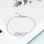 Bracelet infini prénom personnalisé chainette