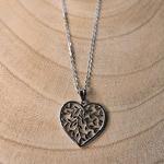 Collier pendentif coeur arbre de vie cadeau Saint Valentin