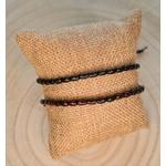 Bracelet fines perles en bois
