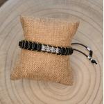 Bracelet pour homme tendance noir et argent
