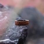 Bague de fiançailles en bois homme et femme