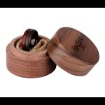Bague en bois avec boite en bois cadeau