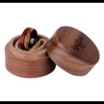 Bague en bois avec jolie boite de présentation en bois