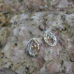 Boucles doreilles pendantes en argent