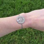 Bracelet arbre de vie argenté