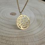 Collier personnalisé prénoms arbre de vie