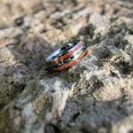 Bague de mariage bois opale
