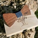 Noeud papillon en bois homme