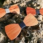 Noeud papillon original en bois