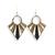 boucles d'oreilles bois dame de pique-1