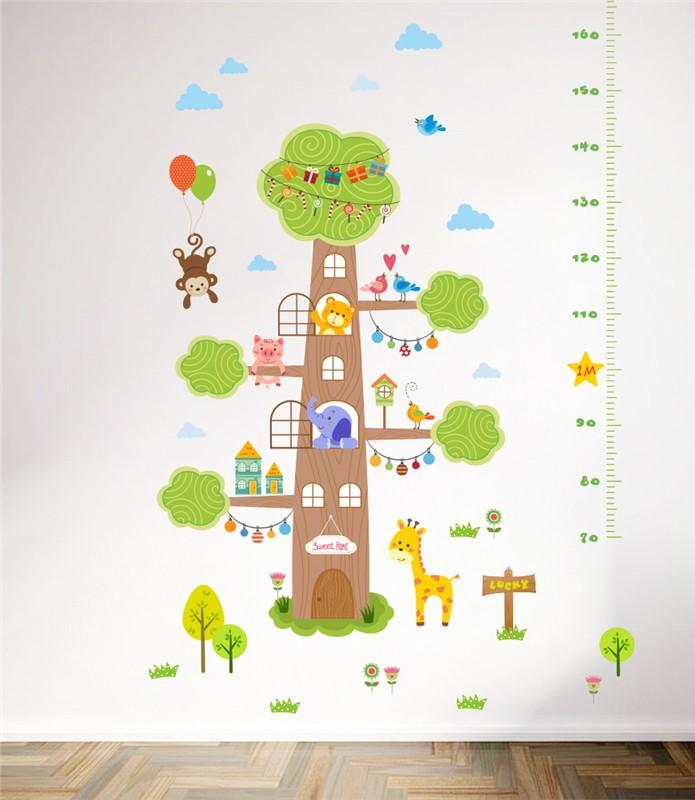 Sticker Toise arbre et animaux