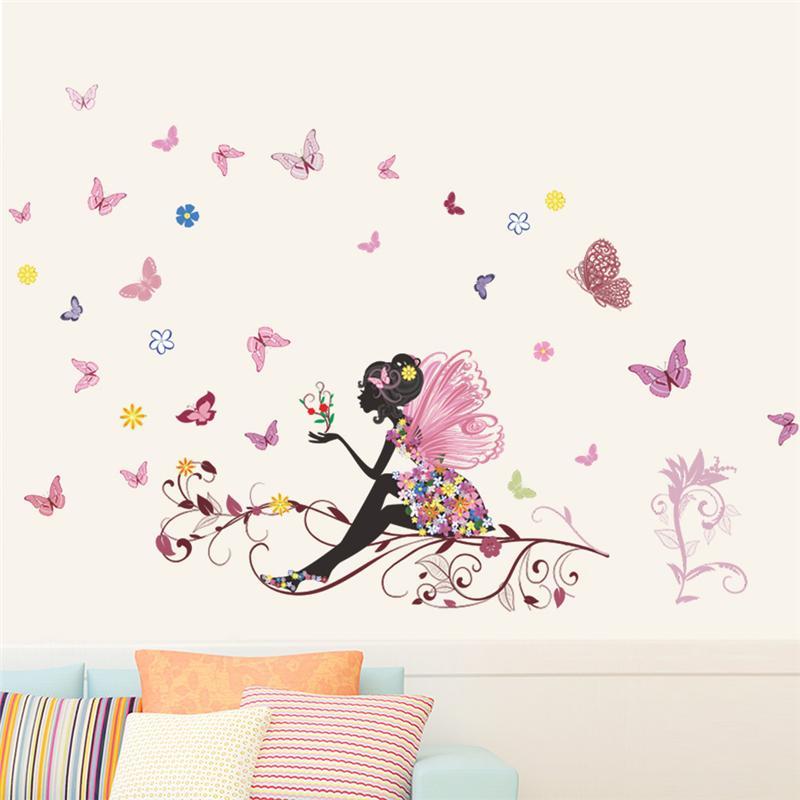 Sticker Fée papillon