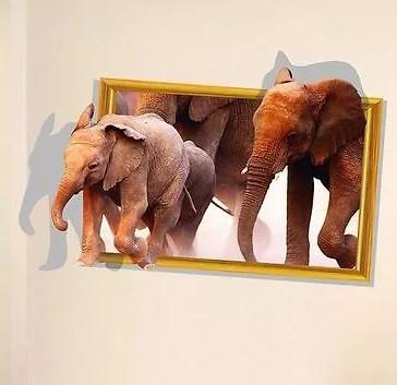 Sticker Cadre éléphants