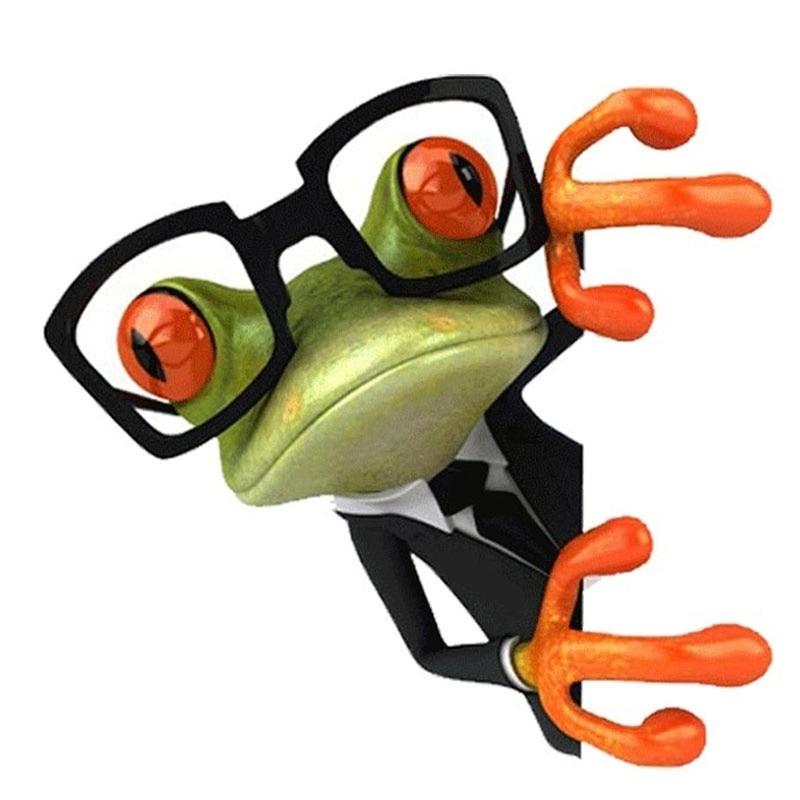 Sticker Grenouille à lunettes
