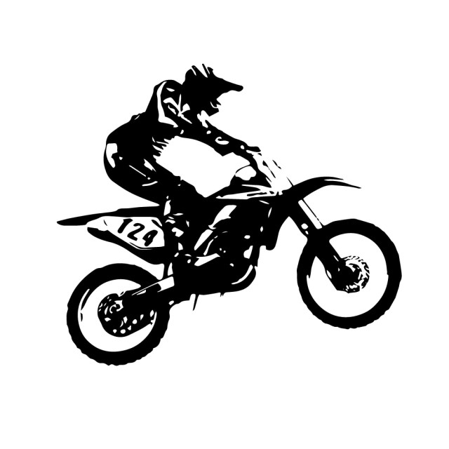 1650 Stickers Motocross 1