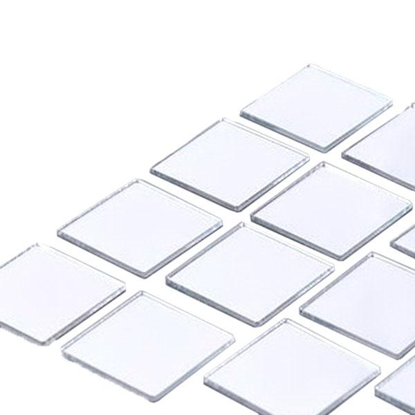 Lot de 100 stickers Carrés 3D miroir