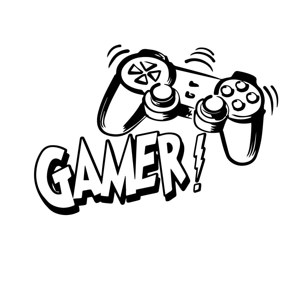 Sticker Manette play gamer