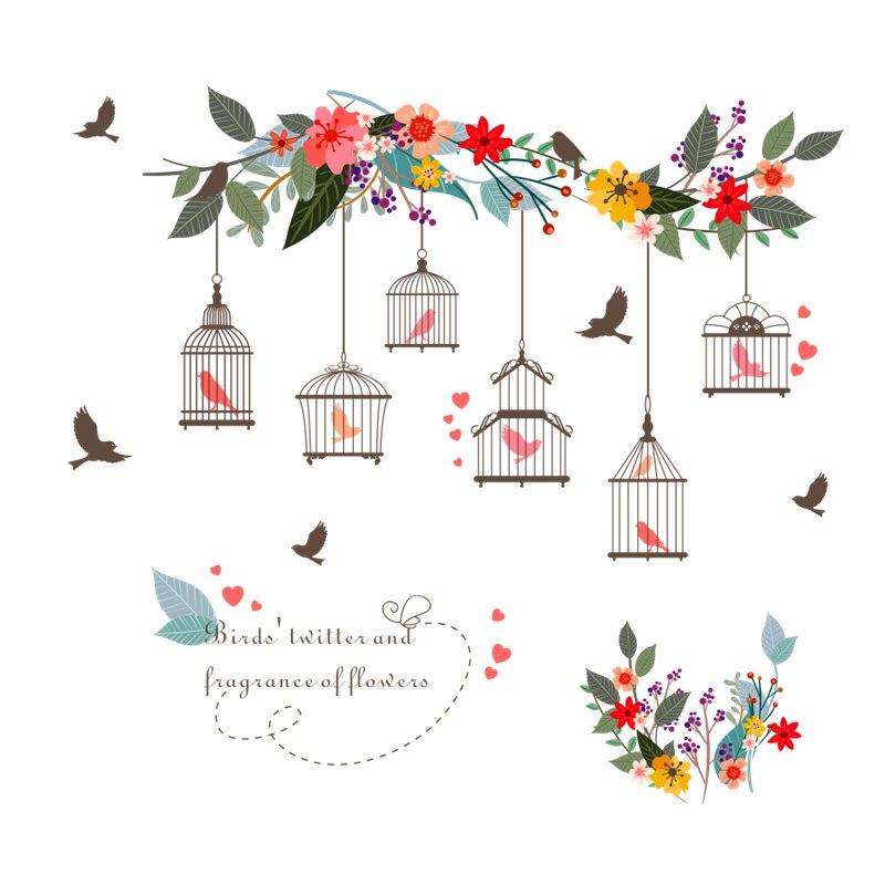 Sticker Cages à oiseaux