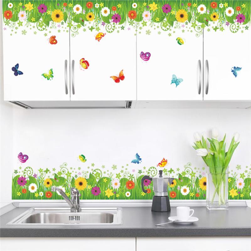 Sticker Fleurs colorées