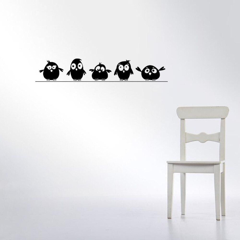 Sticker Cinq petits oiseaux