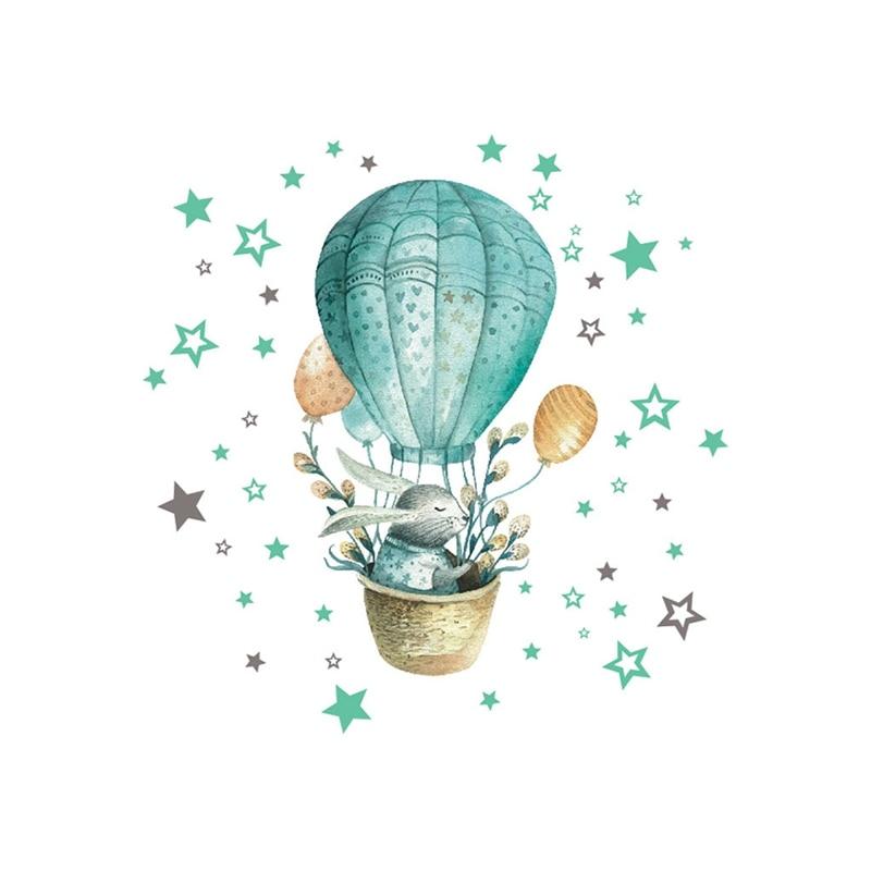 Sticker Lapin montgolfière