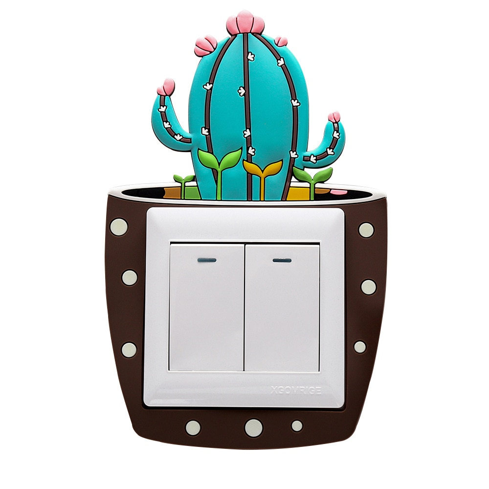 Sticker Phosphorescent Interrupteur Cactus